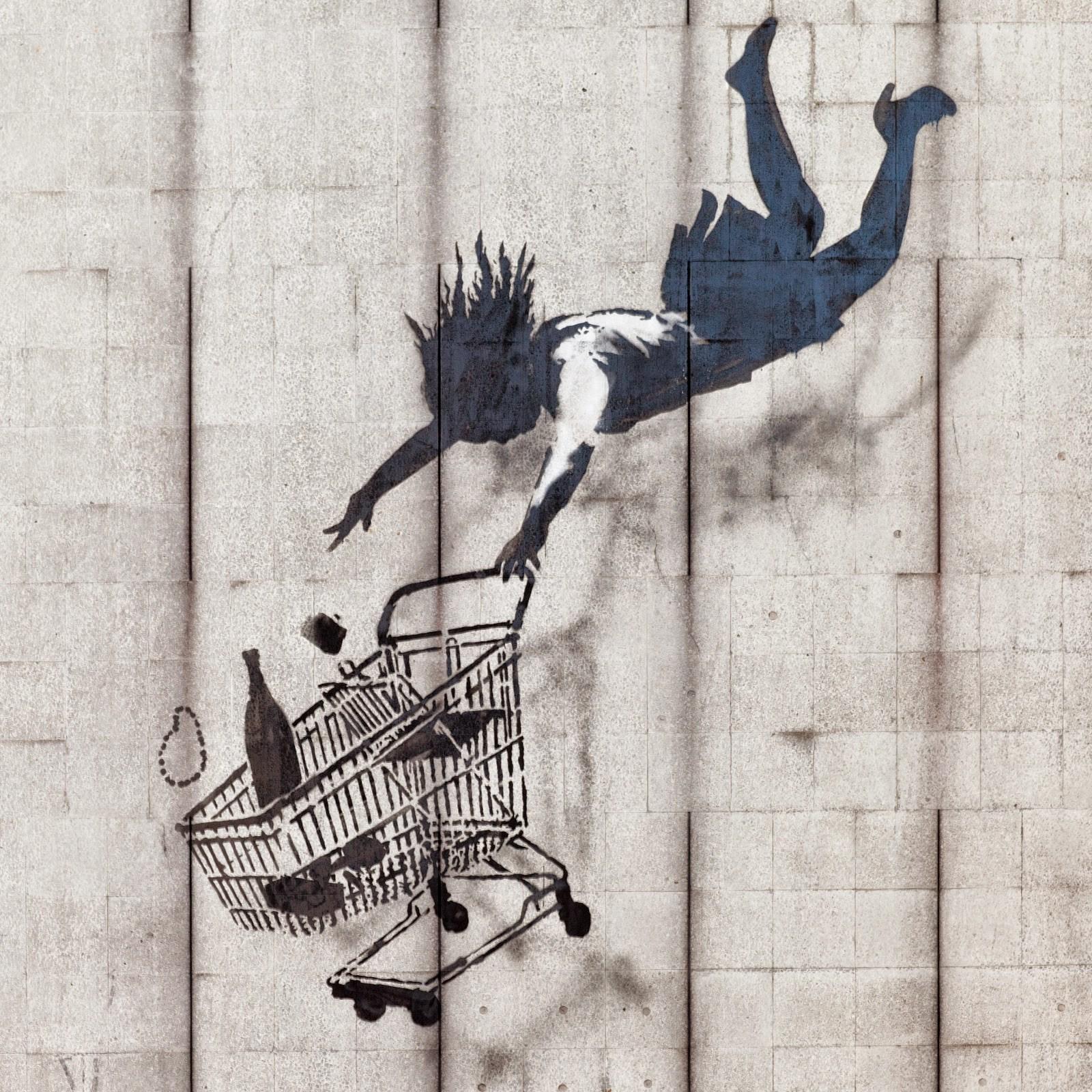 Banksy, Shop Until You Drop, Mayfair, London